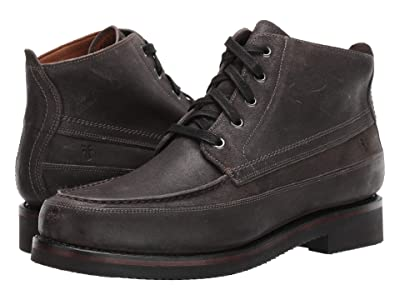 Frye Field Lace-Up (Dark Grey Waxed Suede) Men