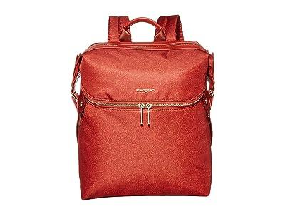 Hedgren Paragon Medium Backpack (Rust Paisley Print) Backpack Bags
