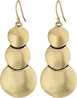 The Sak - Layered Circle Drop Earrings