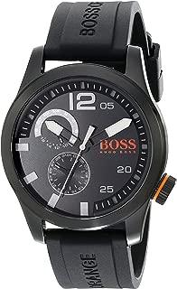 BOSS Orange Men's 1513147 Paris Analog Display Japanese Quartz Black Watch