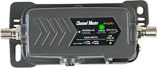 Channel Master CM-7777HD Amplify Adjustable Gain TV Antenna Preamplifier with LTE Filter..
