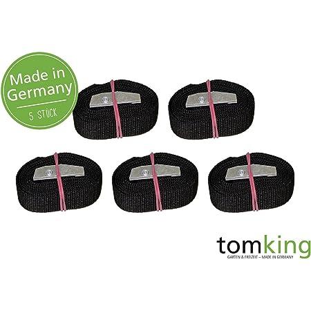 5 X Befestigungsriemen 1 M X 25 Mm 250 Kg Made In Germany Spanngurte Zurrgurte Schnallgurte Klemmschloss Auto