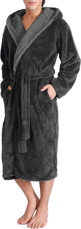 DAVID ARCHY Men's Soft Fleece Plush Full Length Long San Jose Mall Bathro Ranking TOP19 Robe