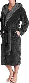 Men's Hooded Fleece Plush Soft Shu Velveteen Robe Full...
