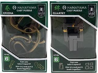 MARCOPOLO (2 PK Value Buy) Hanayama Multipack Puzzles (Enigma & Quartet)