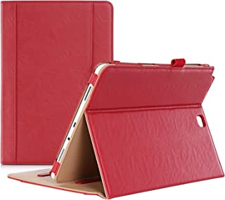 ProCase Galaxy Tab A 9.7 Case - Standing Cover Folio Case for 2015 Galaxy Tab A Tablet (9.7 inch, SM-T550 P550), with Multiple Viewing Angles, auto Sleep/Wake, Document Card Pocket (Red)