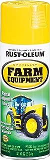 Rust-Oleum 7443830 Specialty Farm Equipment Spray Paint, 12 oz, John Deere Yellow