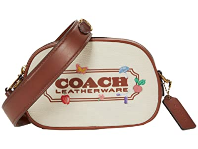 COACH Embroidered Canvas Coach Badge Camera Crossbody