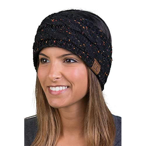 Funky Junque Cable Knit Fuzzy Lined Head Wrap Headband Ear Warmer fd621e86f10b
