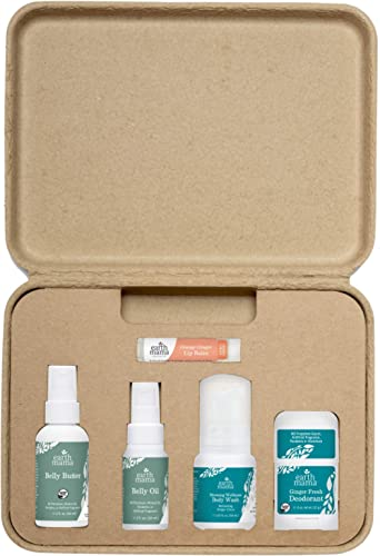 A Little Something for Mama-to-Be Gift Set by Earth Mama Natural Pregnancy and Maternity Gift for Expectant Mothers, ...