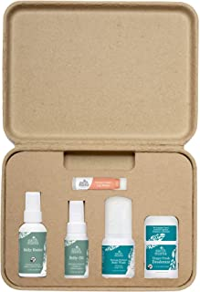 A Little Something for Mama-to-Be Gift Set by Earth Mama | Natural Pregnancy and Maternity Gift for Expectant Mothers, 5-Piece Set