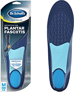 Dr. Scholl's PLANTAR FASCIITIS Pain Relief Orthotics Clinically Proven Relief and Prevention of Plantar Fasciitis Pain, Men's,  8-13 (Packaging may vary)