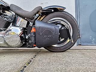 ORLETANOS Hulk Black kompatibel mit Harley-Davidson Schwarz mit Flaschenhalter Rahmentasche Seitentasche Schwinge Getr/änkehalter HD Schwingentasche Fatboy Heritage Softail Slim Wildstar Dragstar