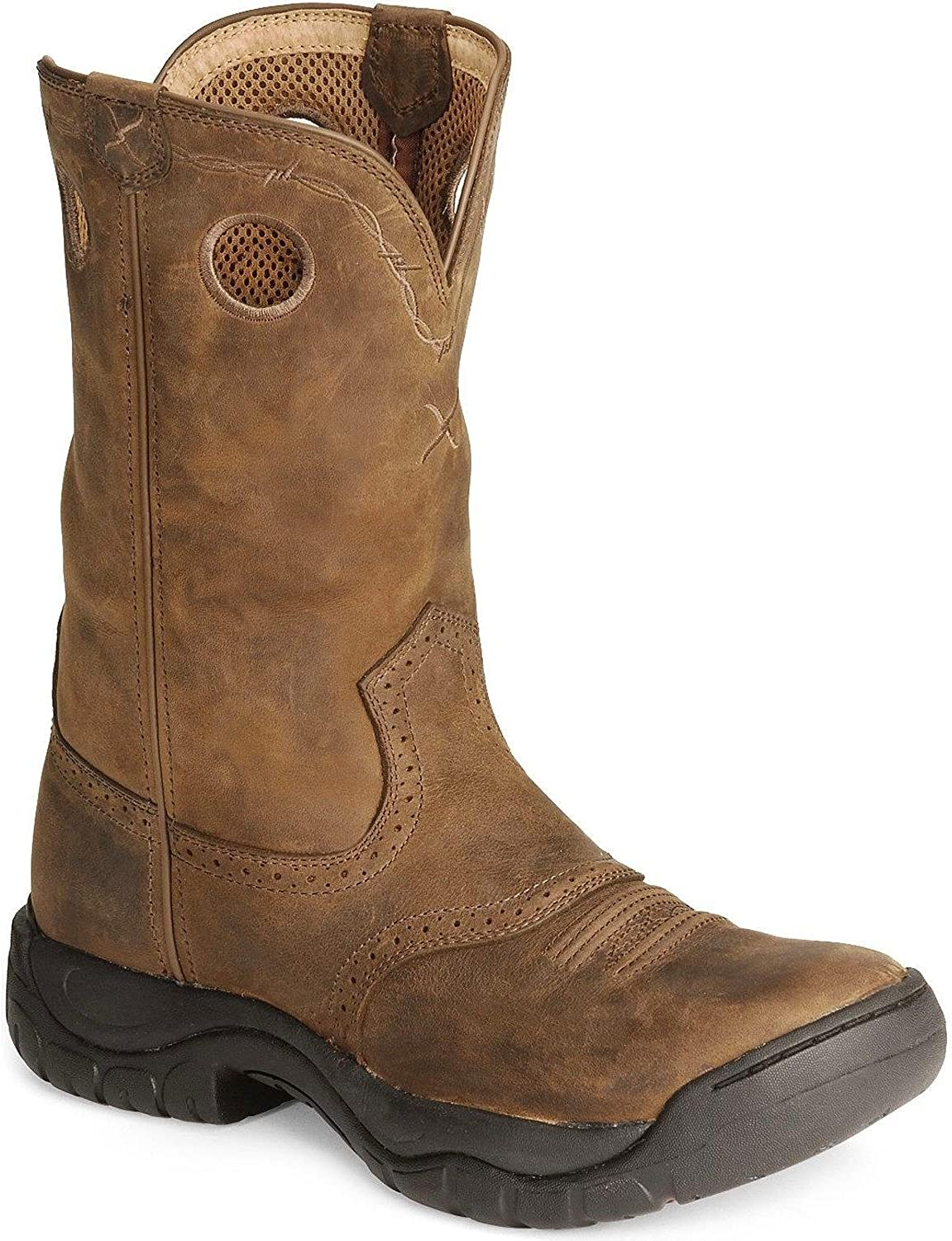 Twisted X Western Boots Mens Leather All Around Saddle MAB0001