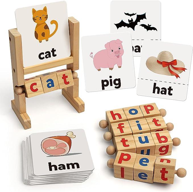 75 opinioni per Coogam Color Blocks Giochi di ortografia, Flash Cards Puzzle con lettere di