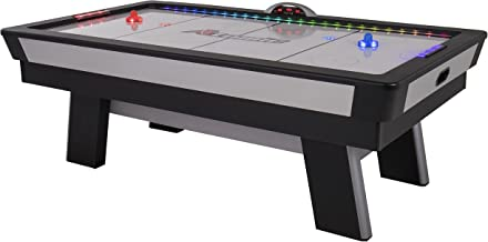 Atomic Top Shelf 7.5' Air Hockey Table with 120V Motor for Maximum Air Flow, High-Speed PVC Playing Surface for Arcade-Style Play and Multicolor LED Lumen-X Technology to Illuminate Play