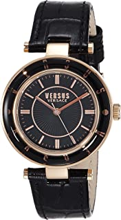 Versus by Versace Women's SP8160015 Logo Analog Display Quartz Black Watch
