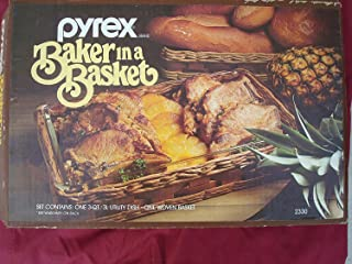 Pyrex Baker in a Basket 3Qt Utility Dish & Woven Basket