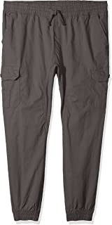Men's Jogger Pants Washed Ripstop Fabric with Cargo Pockets