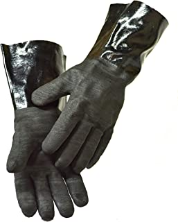 G & F Products BBQ Gloves Grill Gloves Insulated Waterproof/Oil & Heat Resistant BBQ, Smoker, Grill, and Cooking Gloves. Professional Barbecue & Grilling -1 Pair (14 Inch)