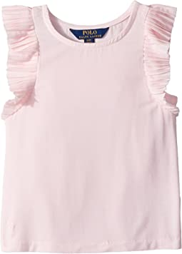 Polo Ralph Lauren Kids Jersey Flutter-Sleeve Top (Toddler)
