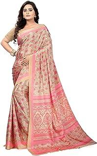 8fc4f9a8b07660 Jaanvi fashion Crepe Saree with Blouse Piece (studio-crepe-03_Pink_one size)