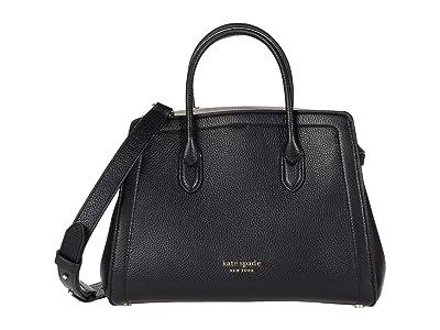 Kate Spade New York Knott Medium Satchel (Black) Handbags