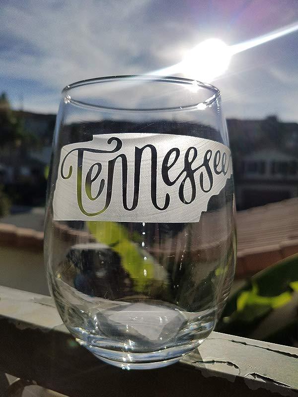 Tennessee Stemless Wine Glass White Wine Red Wine Glass