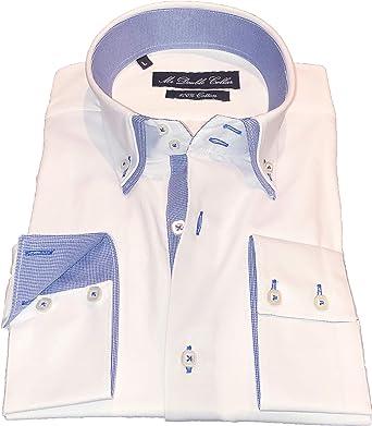 MrDoubleCollar Diseño italiano para hombre camisa blanca ...