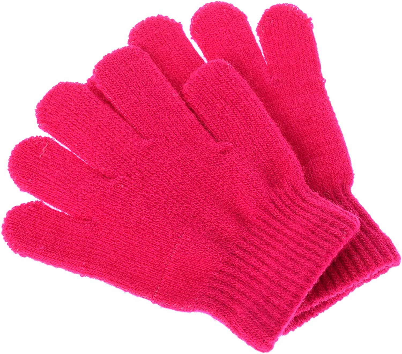 Pinksee Kids Boys Girls Winter 100% quality warranty Stretchy Warm Knitted Glove San Diego Mall Magic