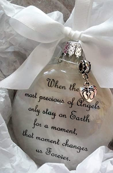 Infant Memorial Ornament The Most Precious Of Angels With Footprints Charm In Memory Of Baby Loss Sympathy Gift