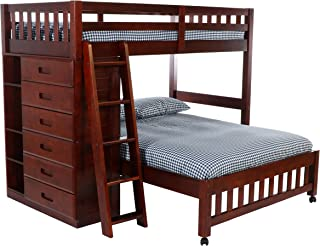 Discovery World Furniture Twin Over Full Loft Bed, Merlot