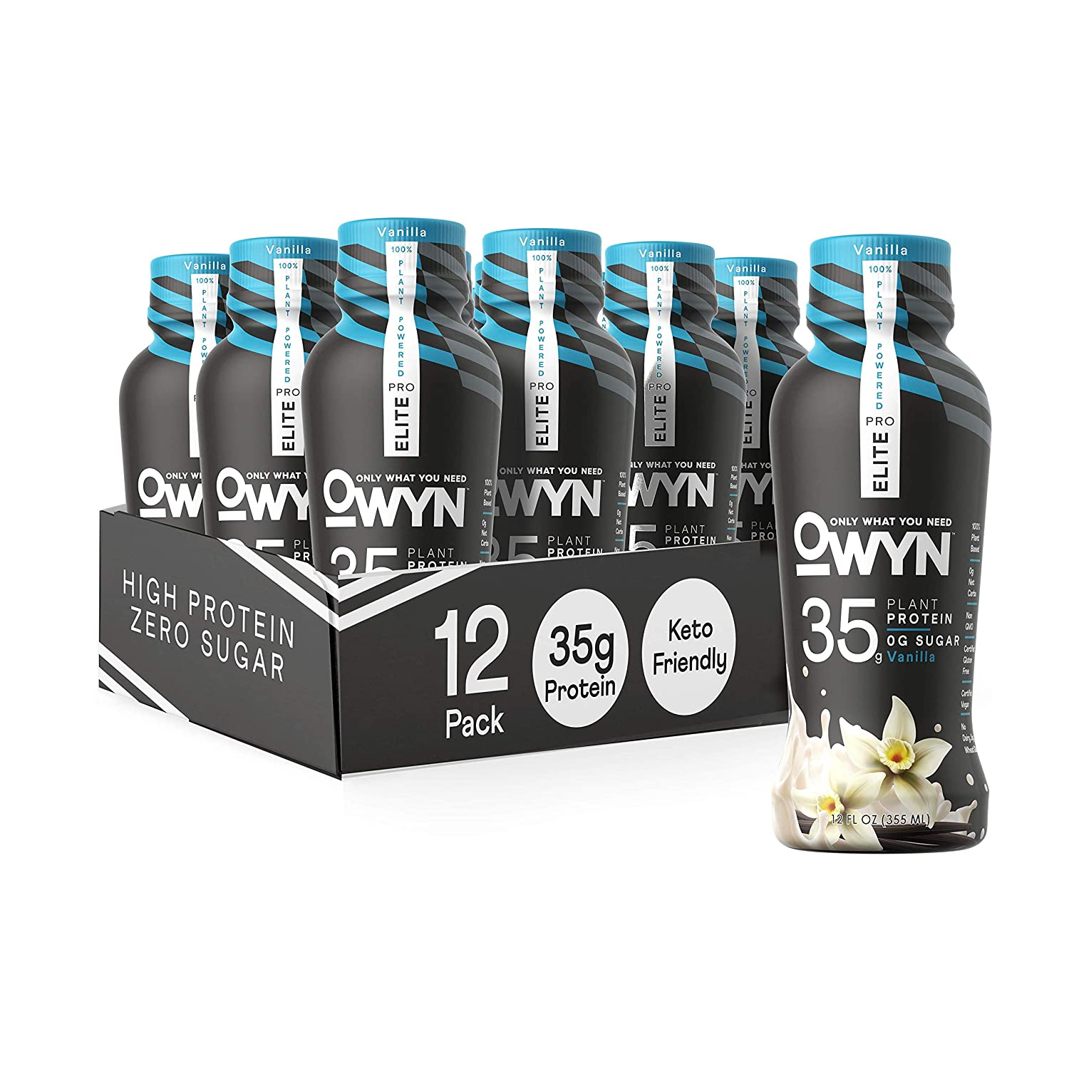 Owyn Pro Elite Plant-Based 1 Challenge the lowest price year warranty High Shake Vanilla 12-Pack Protein
