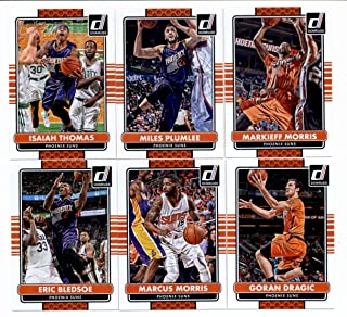 2014/15 Donruss Basketball Team Set (Veterans)- Phoenix Suns (6 Cards)> Eric Bledsoe,Marcus Morris,Goran Dragic,Isaiah Thomas,Miles Plumlee,Markieff Morris