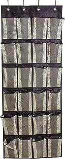 MISSLO Over The Door Organizer 24 Large Mesh Shoe Storage Pockets, Black