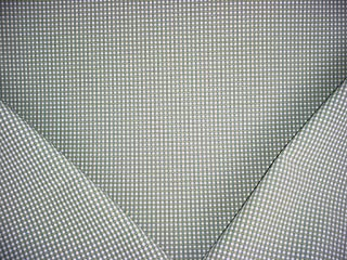 P Kaufmann / Braemore / Waverly Colburn Check - Green / Blue Woven Moire Gingham Picnic Check Designer Upholstery Drapery Fabric - By the Yard