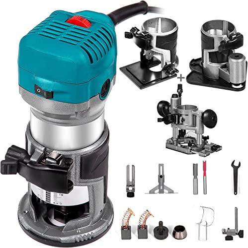 discount Mophorn 6.5Amp 1-1/4 HP Wood discount Router Tool Kit discount Max Torque 30,000RPM Variable Speed Compact Router Kit With Fixed Base, Plunge Base, Tilt Base and Offset Base (kit w/4 bases) online sale
