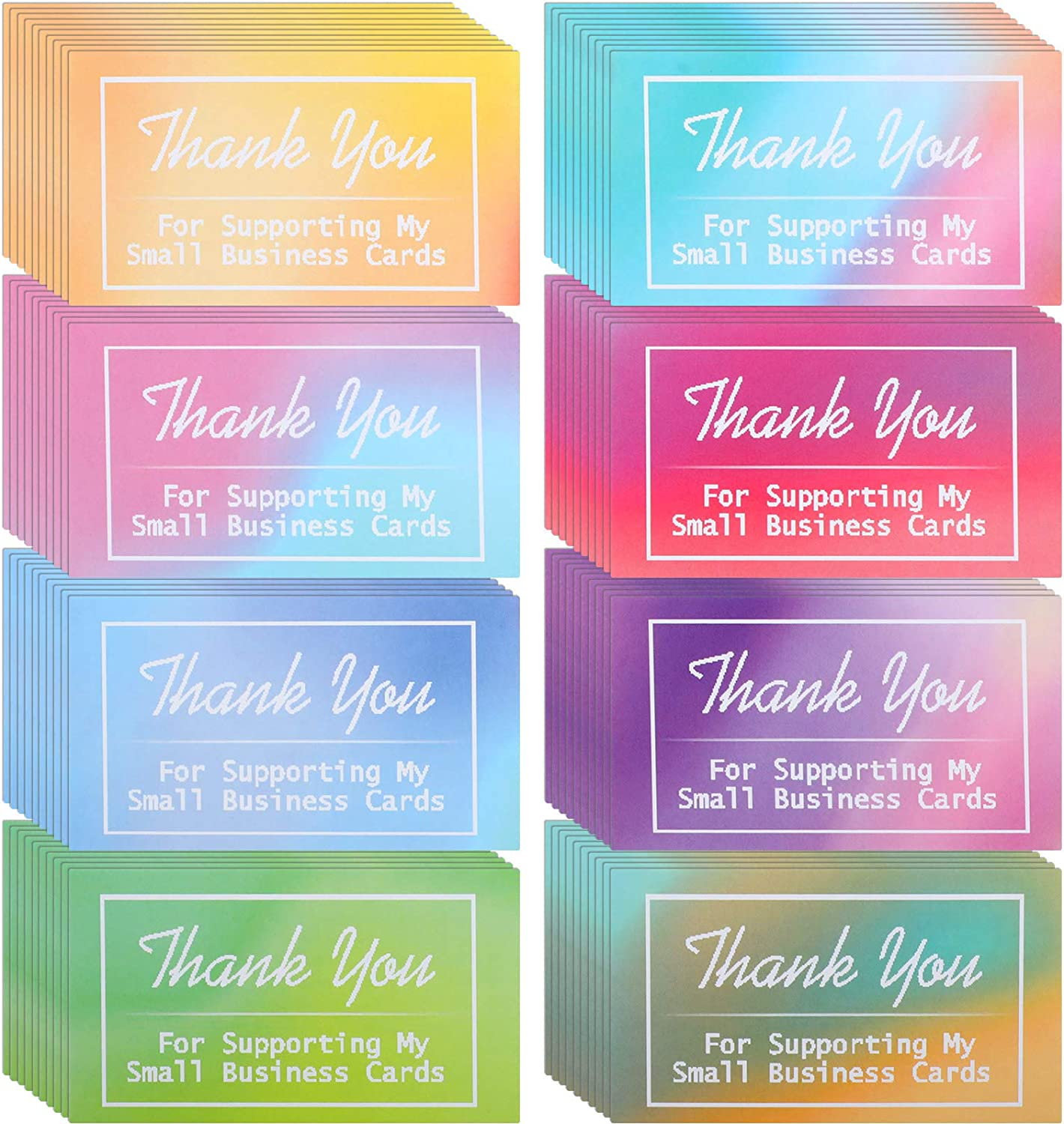 200 Pieces Thank Ranking TOP9 Ranking TOP8 You for Supporting Cards Small My Business Wate