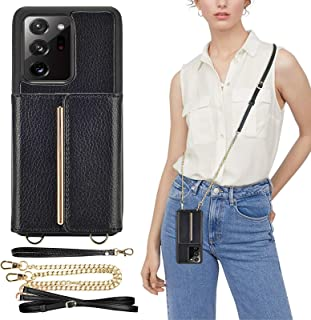 Samsung Galaxy Note20 Ultra Crossbody Case, ZVEdeng Galaxy Note20 Ultra Wallet Case with Card Holder Kickstand Case Handba...