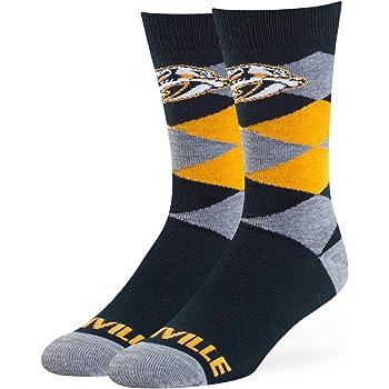 Nashville Predators, Large For Bare Feet Mens NHL-Downtown Crew Socks