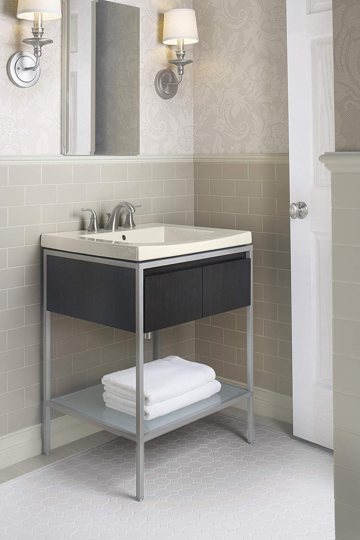 Kohler 507097 Forte Bathroom Sink Faucet, Vibrant Brushed Nickel