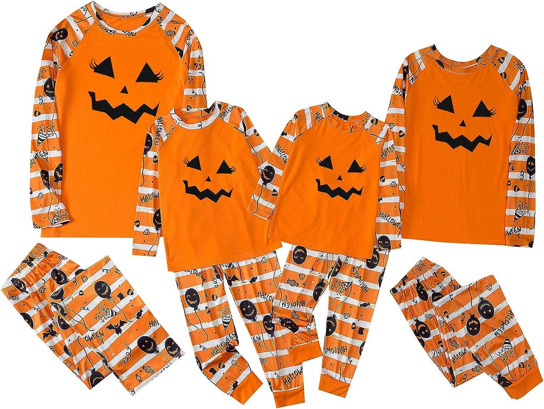 Family Matching Pajamas Set Halloween Sleepwear Xmas Parent-Child Suit Holiday Party Sleepwear Outfits