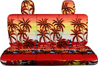 Totally Covers compatible with Ford F-150 SuperCab/SuperCrew Hawaiian Truck Seat Covers (Rear 60/40 Split Bench) w 2 Headr...