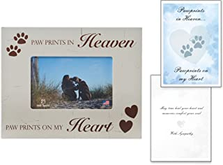 paw prints in heaven picture frame
