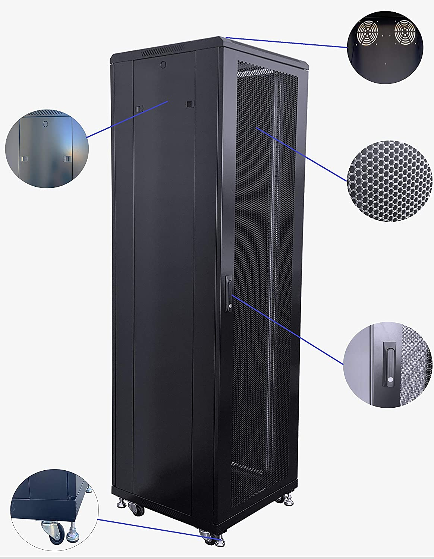 RAISING ELECTRONICS 42U Rack Mount Internet/Network Data Server Cabinet Enlosure 600MM (23.6inch) Deep