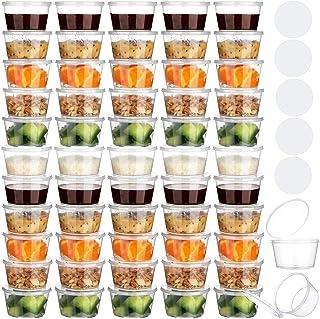 60 قطعة من حاويات تخزين طعام الأطفال الصغار خالية من البيسفينول A ومانعة للتسرب و2 ملصق أبيض لتخزين طعام الأطفال أو الوجبا...