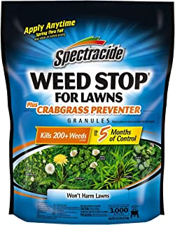 Spectracide Weed Stop For Lawns Plus Crabgrass Preventer Granules, 10.8-Pound