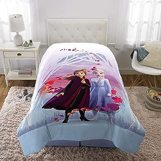 "Franco Kids Bedding Super Soft Microfiber Reversible Comforter, Twin/Full Size 72"" x 86"", Disney Frozen 2"