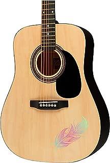 Guitar sticker decal - Feather - violin electric guitar ukulele designs