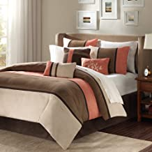 Madison Park Palisades 7 Piece Comforter Set Size: Queen Coral